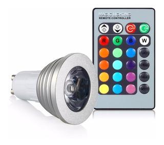 Lámpara Dicroica Led Rgb Colores 3 Watts Gu10 Tbcin