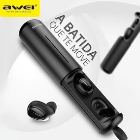 Fone Bluetooth Discreto Awei T5 Earbuds C/ Case Carregador