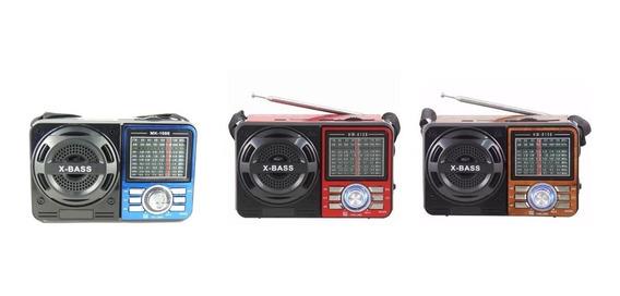 Rádio Portátil Mp3 Usb Sd Pen Drive Am/fm M:108 Frete Gratis