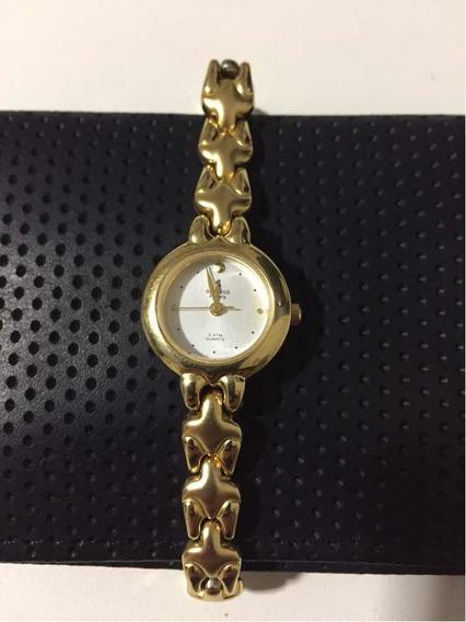 Relógio Seculus Eternity Feminino Folheado A Ouro