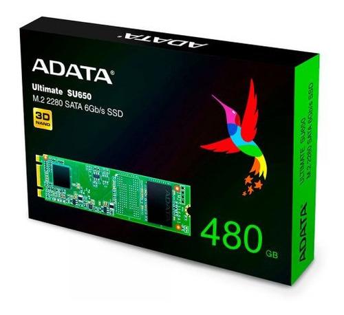 Imagen 1 de 3 de Disco Solido Adata Ssd 480gb M2  Su650