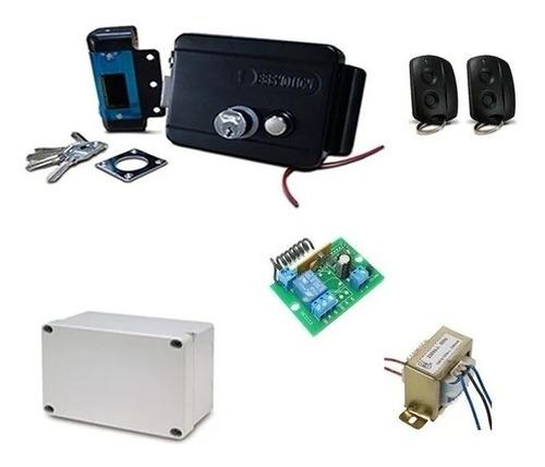 Kit Electrocerradura Control Remoto Puertas Comercios