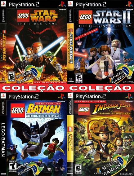 Lego Ps2 Coleção (4 Dvds) Portugues Patch - Pague 3