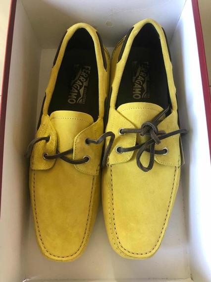 Zapatos Salvatore Ferragamo Playeros Con Caja