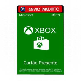 Microsoft Gift Card 29 Reais Cartão Presente Xbox Live Br