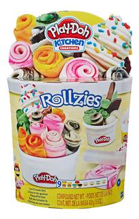 Play-doh Set De Heladería Con 4latas De Masa Color