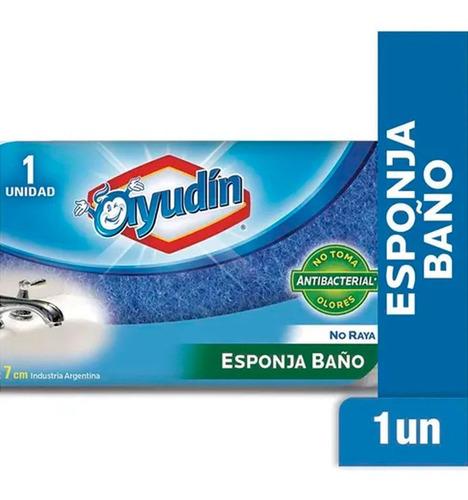 Esponja Ayudin Baño No Raya Antibacterial 14x7cm X 1un