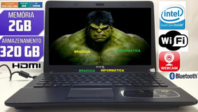 Notebook Win Dual Core 2gb 320gb Wind 7 Hdmi 14