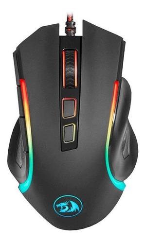 Imagen 1 de 3 de Mouse de juego Redragon  Griffin M607 negro