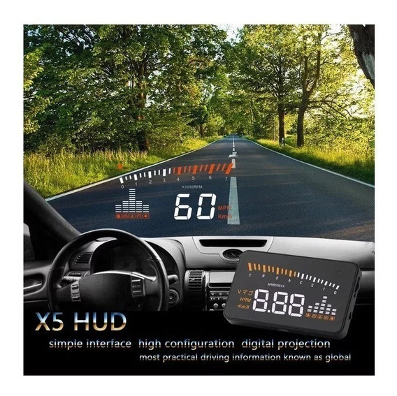 Hud Head Up Display Universal Carro Obd2 Velocímetro Digital