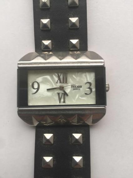 Relógio Terner Original. Usado. Pulseira De Couro