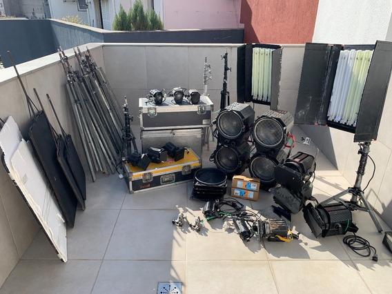 Kit Iluminação Estúdio Cinema Fersnel Telem Powerfloo