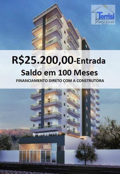 Apartamento Em Praia Grande, Flat 01 Dormitório,01 Vaga Com Lazer No Boqueirão Ap1604 - Ap1604