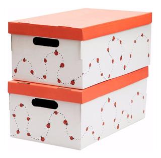 Cajas De Carton Decorativas Organize® 50x29x20cm Set X 2