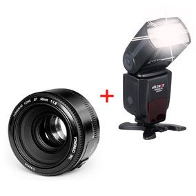 Lente Yongnuo 50mm F/1.8 Canon + Flash Viltrox Jy-680a