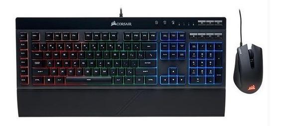 Teclado Gamer Corsair K55 Rgb Usb Português + Mouse Harpoon