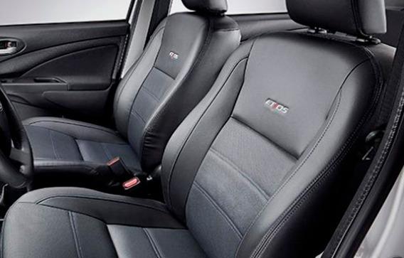 Capa Banco Carro 100% Eco- Couro Etios Hatch Sedan 2010/2020
