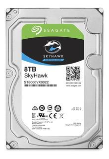 Disco Duro Seagate Skyhawk Surveillance 8tb 6.0 Gbps 3.5 .