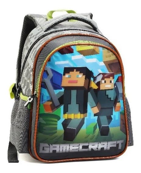 Mochila Infantil Gamecraft De Costas Game 2020 Lançamento