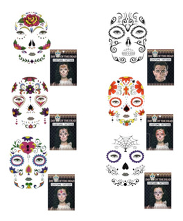 50 Tatuajes Catrina Catrin Cara Disfraz Halloween Calavera