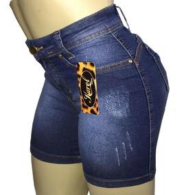 Shorts Cintura Alta Meia Coxa Kit Com 3