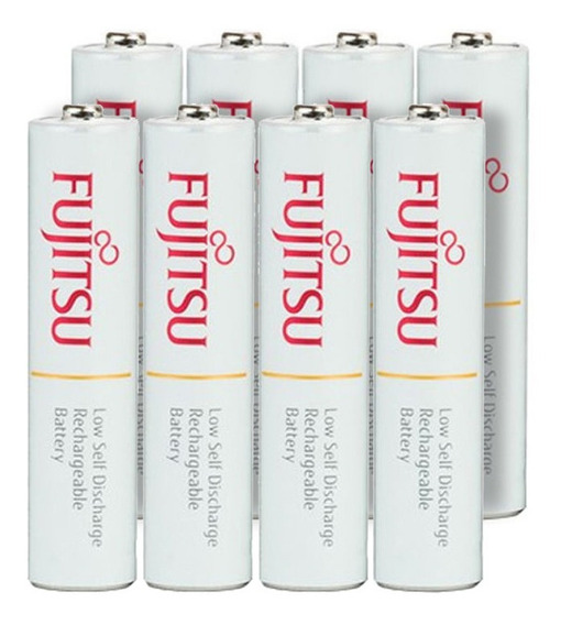 Pilha Fujitsu Aaa Palito Recarregável (8 Unidades)
