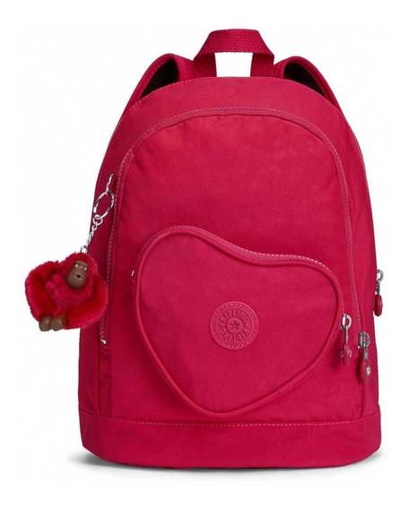Mochila Escolar Kipling Heart Pink Infantil Nova Pronta Entr