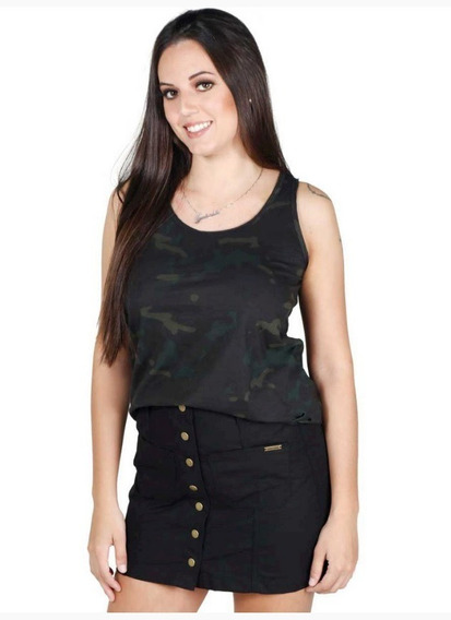 Regata Feminina War Mundo Do Militar Multicam Black
