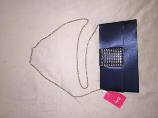 Bolsa Carteira De Mão C/ Alça Azul Royal Fergie