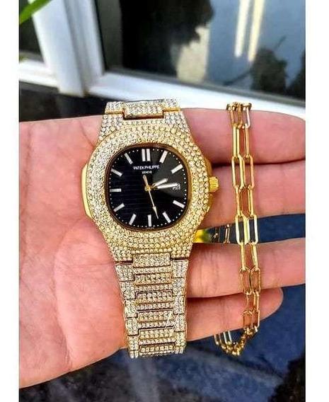 Relógio Petek Philips Luxuoso, Para Empresários