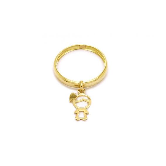 Anel Menina Em Ouro 18k - Ov/ 9357