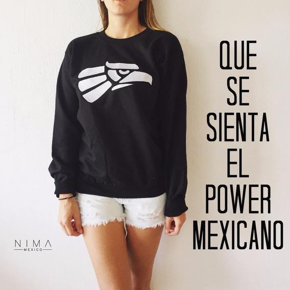 Sudadera Negra Mujer Con Logo Hecho En Mexico