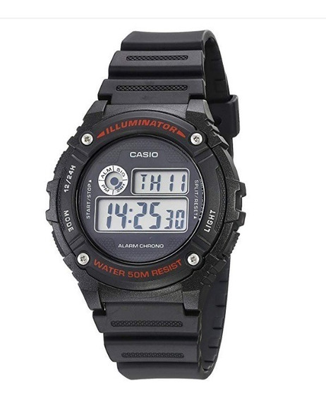 Reloj Casio W-216h Para Hombre Color Negro