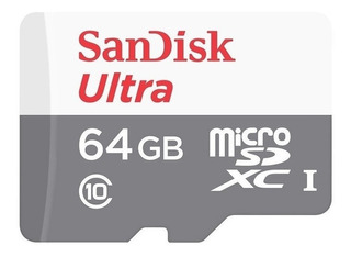 Memoria Micro Sd Sandisk 64gb Ultra Cl10 80 Mbp Blister