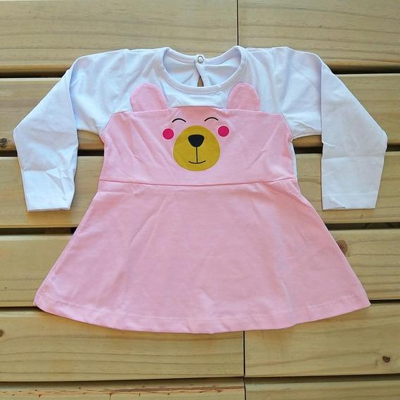 Vestido Em Cotton Baby Bear