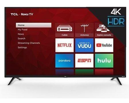 Televisor Tcl 65 Class 4k Hdr Roku Smart Led Tv ($550)