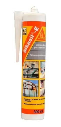 Sellador De Silicona Ecetico 609106 Sikasil E X280ml  Sika