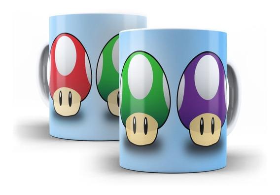 Caneca Super Mário Bros Cogumelo Nintendo - Mega Oferta!!!