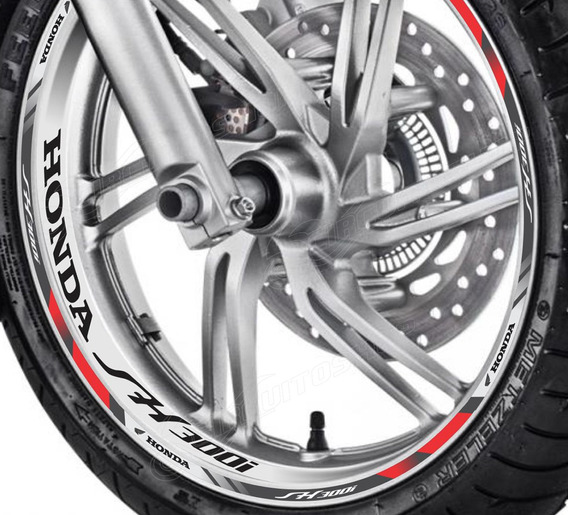 Friso + Adesivo Refletivo D10 Roda Moto Honda Sh 300 I