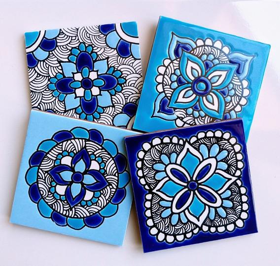 Azulejos Decorados Jalisto Cobalto 10x10 Soy Fabricante