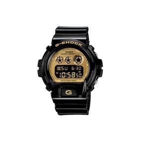 Relógio G-shock Casio Digital Masculino Preto E Dourado Dw-6