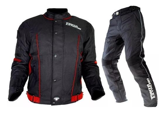 Conjunto Campera Y Pantalon Punto Extremo Cordura Top Racing