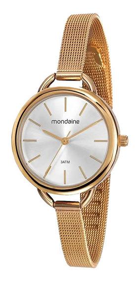 Relógio Mondaine Feminino Esteira Dourado 53612lpmvde1