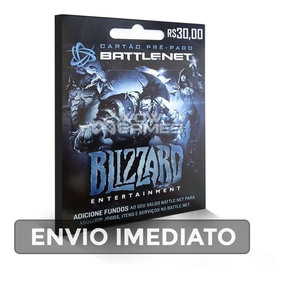Wow, Diablo, Hearthstone, Overwatch Saldo Battle.net R$ 30