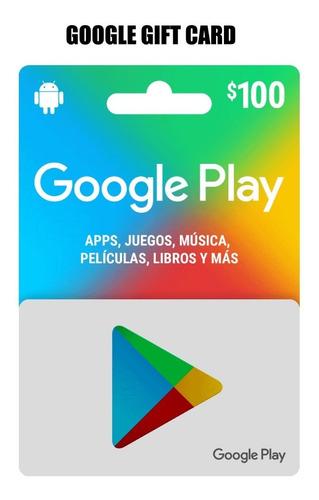 Imagen 1 de 3 de Google Play $100 Pesos, Envio Full
