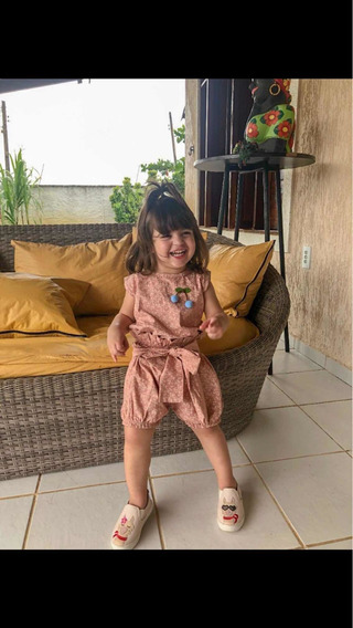 Conjunto Infantil Tam G (6 Anos) Batinha+ Short Clochard