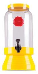 Suqueira Refresqueira De Vidro Retrô 3,25ml Amarelo