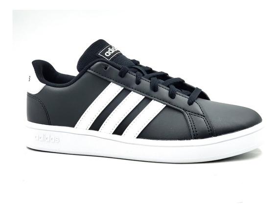 adidas Court K Negro/blanco-juvenil
