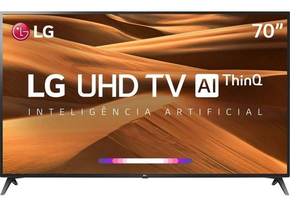 Smart Tv Led 70 Uhd 4k LG 70um7370psa Thinq Ai Hdr Ativo W