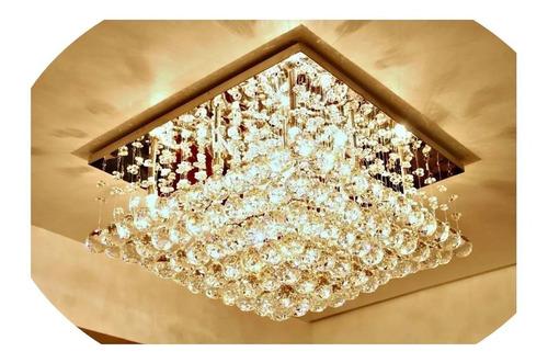 Lustre Cristal Legítimos Base De 40 X 40 Cm Promoção Fabrica